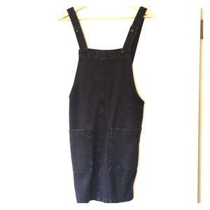 ASOS dark grey/black denim overall dress